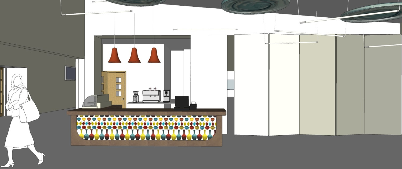 Sketch proposal cafe counter design