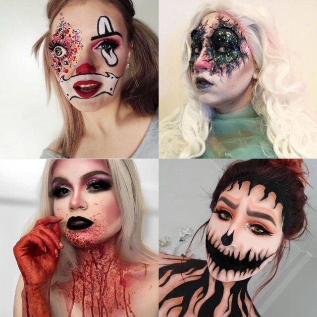 Halloween meikkejä vuodelta 2018!