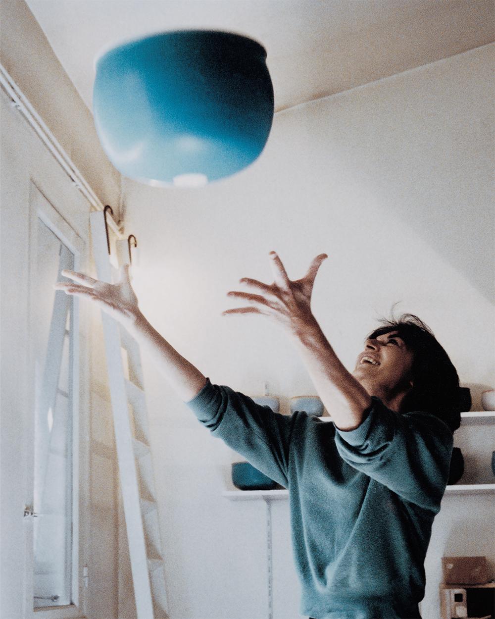 Siesbye in her Paris studio, 1978.