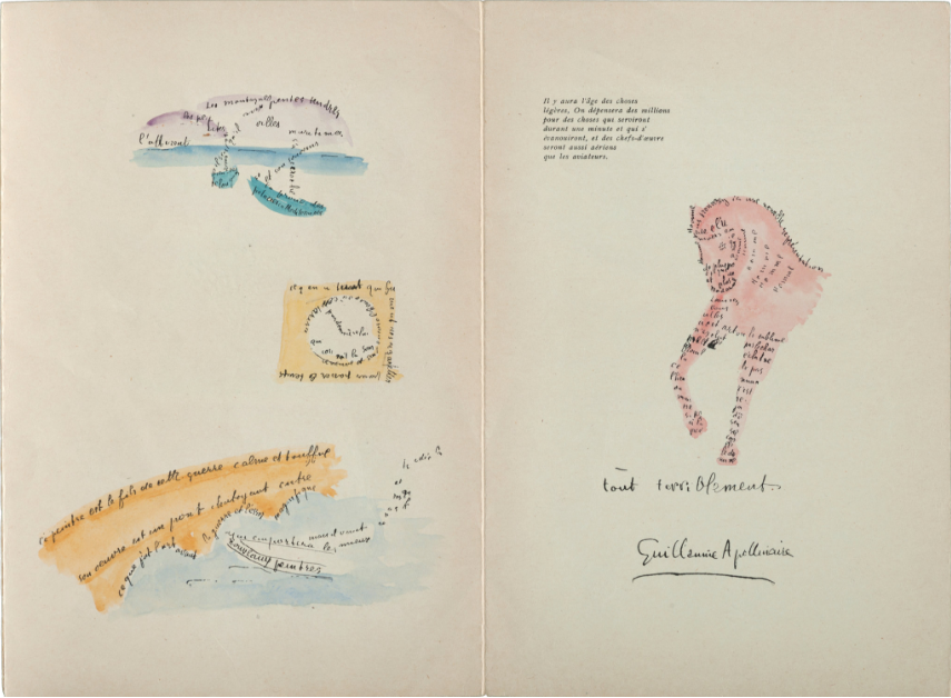 """Guillaume Apollinaire's """"Peintures de Léopold Survage"""" (1917) is among the works that will be at the Pérez Art Museum Miami, collection of Ruth and Marvin Sackner"""