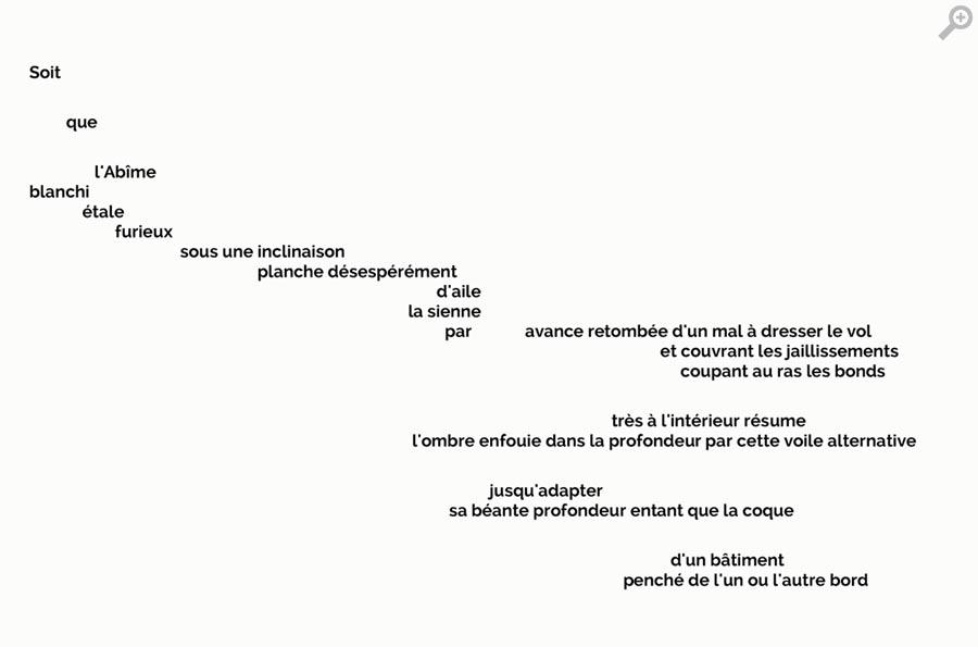 """"""":Un Coup de Des"""", (A Throw of the Dice), by Stéphane Mallarmé"""