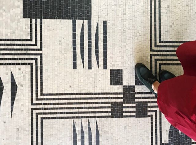 Floor game 💪🏼@barnesfoundation . . . . #mosaic #twbta #barnesfoundation #philadelphia