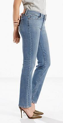 Hipster straight leg jeans