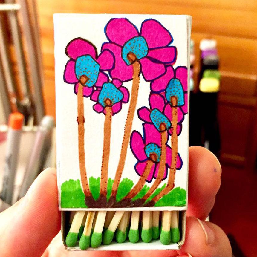 #88. Matchstick Flowers