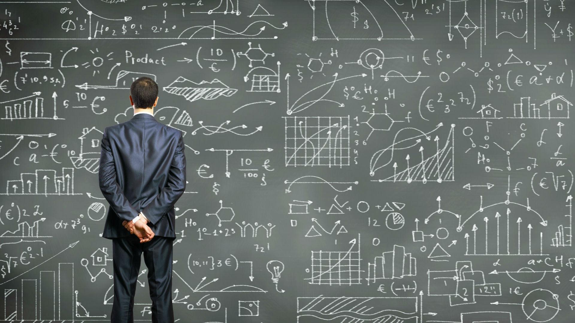analytics chalkboard