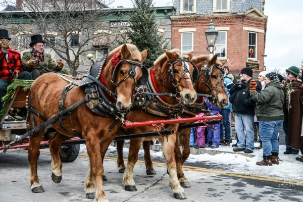 Wassail Weekend in Woodstock, VT. Photo courtesy of Billings Farm