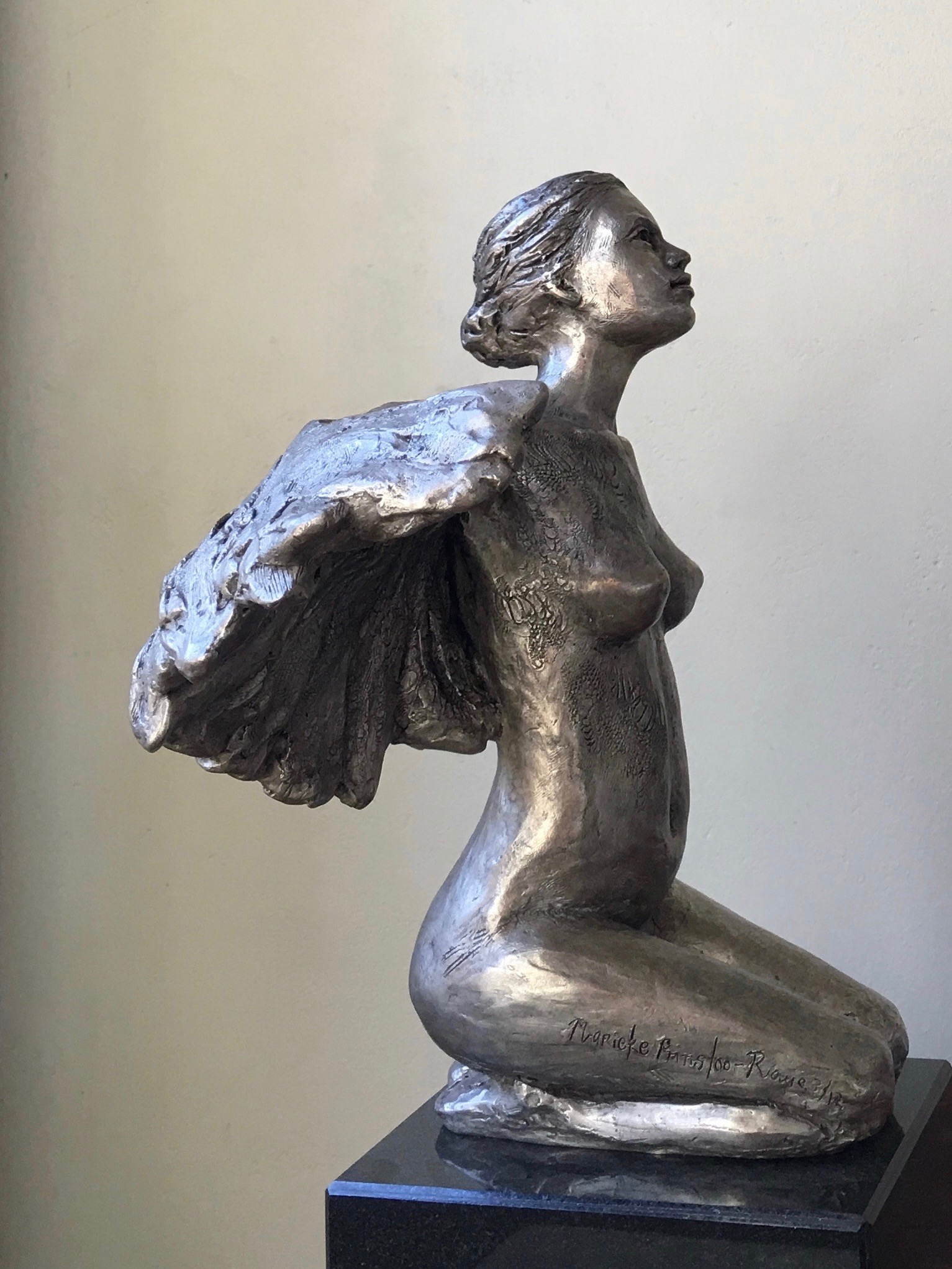 Marie in Flight  Limited Edition of Twelve in Bronze  40cm tall