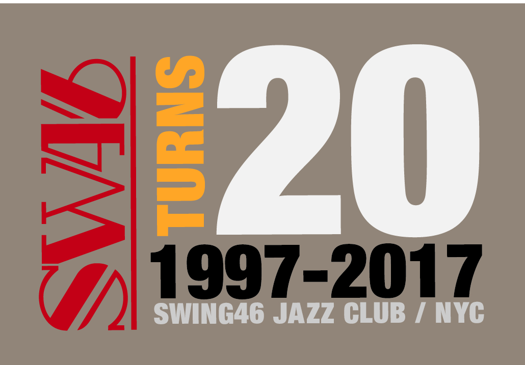 """An iconic mainstay of Midtown Manhattan's Restaurant Row,  SWING46  Jazz Supper Club will commemorate its 20th year with a month of celebrations  SWING46 is New York's (and the world's!) only supper club entirely dedicated to presenting live jazz music for dining and dancing — and from May 26 to June 30, every night will be an anniversary party.  Open nightly, seven days a week, the club will present longtime favorite acts.  """"SWING46 prides itself on hosting bands regularly. That mutual loyalty, that love and respect between musicians and management, is so important — we think longtime fans and first-time guests alike enjoy that 'family' feeling throughout the house,"""" said Promotions Director George Gee, who also leads his eponymous Orchestra from the SWING46 stage at least twice a week.  During its anniversary """"month"""" May 26 – June 30, SWING46 will present these favorites:  Mondays: Swingadelic — 10 pieces playing classic Big Band arrangements    Tuesdays: George Gee Swing Orchestra — 10 pieces playing a mix of jazz favorites     fromthe     American songbook plus new songs and arrangements, with featured vocalists Shenel Johns and John Dokes    Wednesdays: Stan Rubin Orchestra — 17 pieces with guest vocalist Joe Politi playing classic arrangements of top hits from the original Swing Era.  Thursdays: an exclusive rotation of NYC's top 17pc. Swing Big Bands  Fridays: Rotation of The Ron Sunshine Orchestra and George Gee Orchestra  In respect to and appreciation of the important relationship this music has with swing dancers, SWING46 also presents a beginner dance lesson every night, with instruction by its own teachers or from the club's official dance studio partner,  You Should Be Dancing...!   As club proprietor John Akhtar points out: """"Everyone is a dancer at heart — these dance lessons provide a bridge between the musicians on stage and the audience. That's why we have a nightly dance floor: music, food, cocktails, and dancing…. it's all part of the scene! We l"""