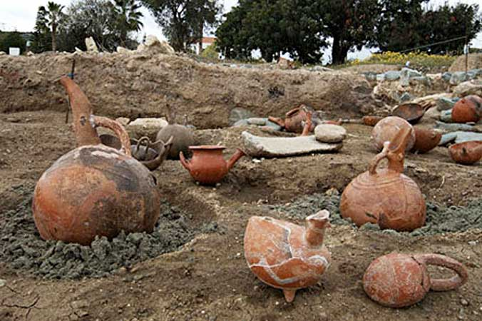 The earliest intact residue of perfume comes from Cyprus, where archaeologists unearthed 4,000 year-old ceramic jugs containing scented oils. Scientists were able to identify the ingredients as ben oil, anise, pine, coriander, bergamot, almond, and parsley. The multitude of jugs and alembics suggests a large-scale production of perfume in ancient Cyprus.