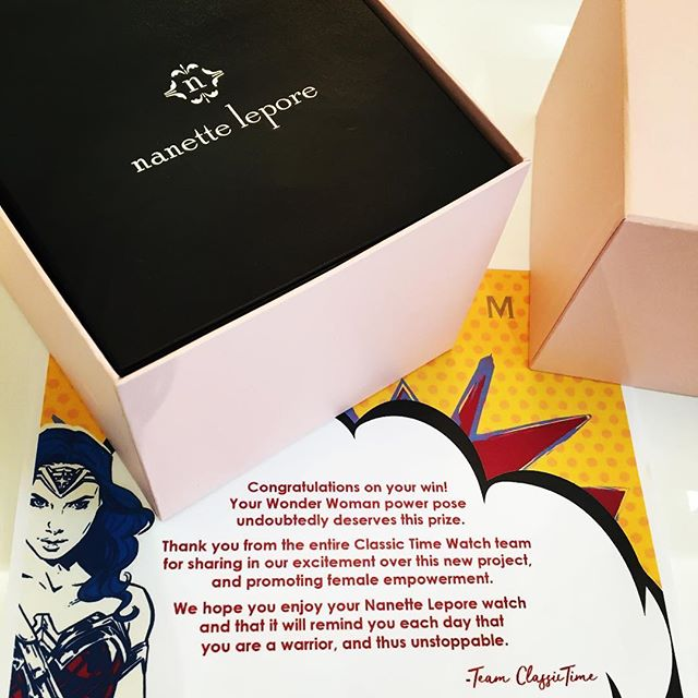 Shipping out prizes today! Congratulations again to our winners @mandawamba @faedruiz! #wonderwomanpowerpose
