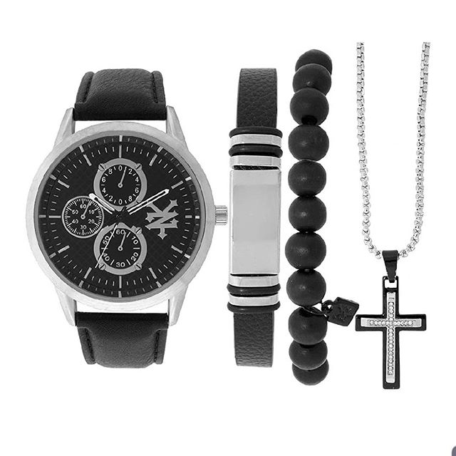 Check out The ZOO YORK Men's gift pack on Amazon. The all in one men's fashion pack comes with two sleek bracelets with a matching cross necklace in addition to our minimalist chronograph watch. link in bio! . #watch #zooyork #menfashion #mengift #menwatches #crossnecklace #christianfashion #religion #coolproduct #sleek #skater #streetwear #simplefashion