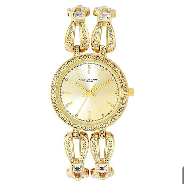Our beautiful Christian Siriano watch available on Amazon now! . @csiriano #watch #womenwatch #womenfashion #luxurywatch #giftsforher #fashion #goldwatch #accessories #accessoriesforher #hot #cute #beauty