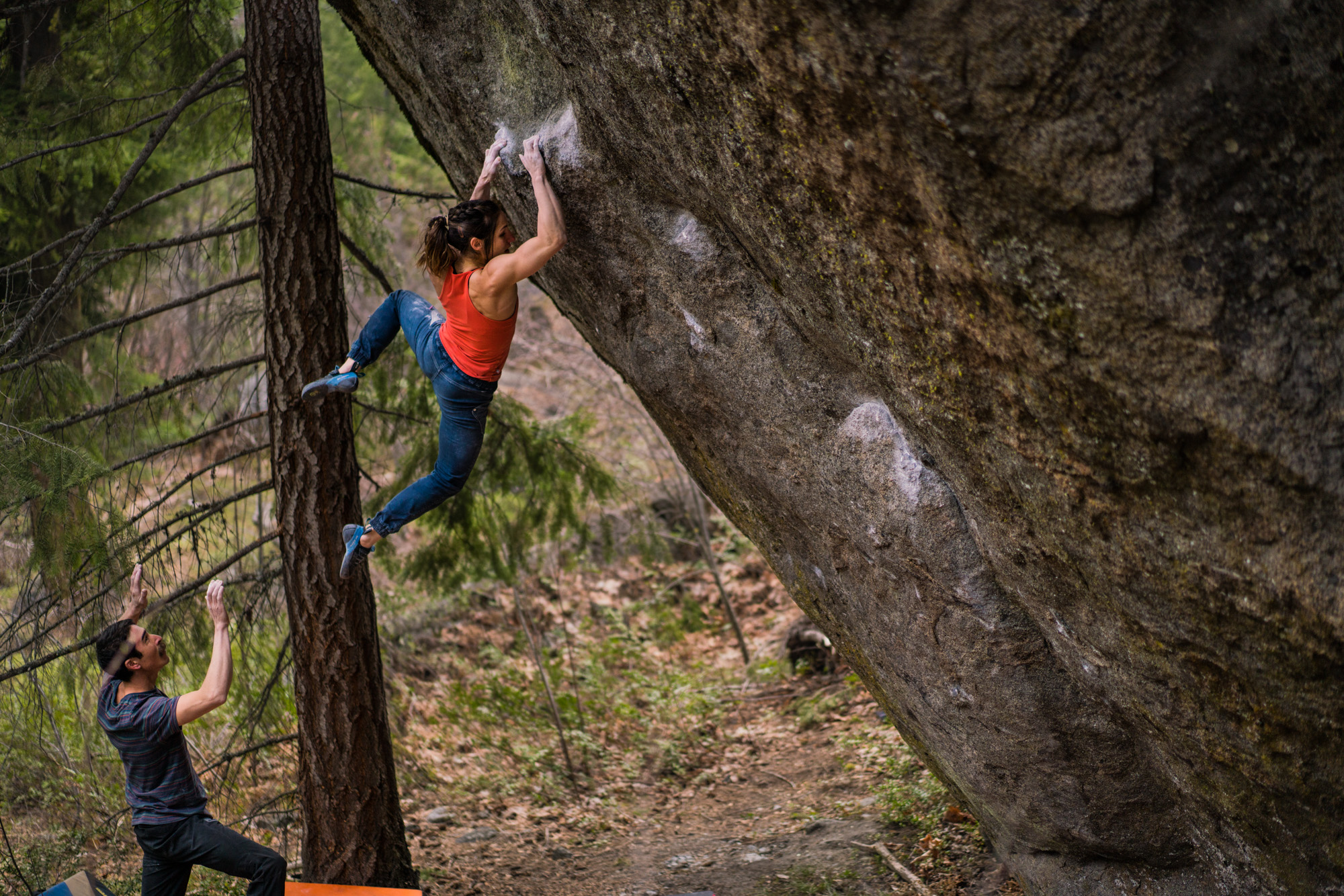 Alex Puccio owning the cut-loose move on The Penrose Step (way to go on this thing, by the way Alex!)
