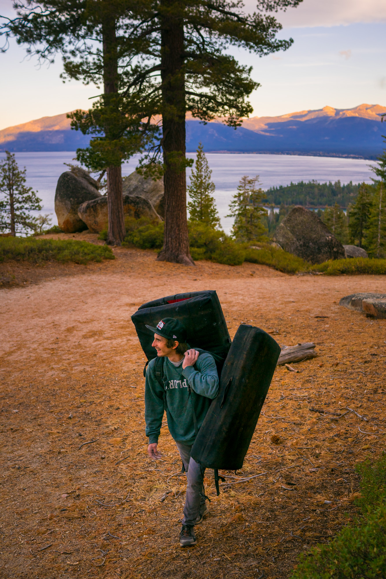 Daniel Woods enjoying another rough Tahoe approach.