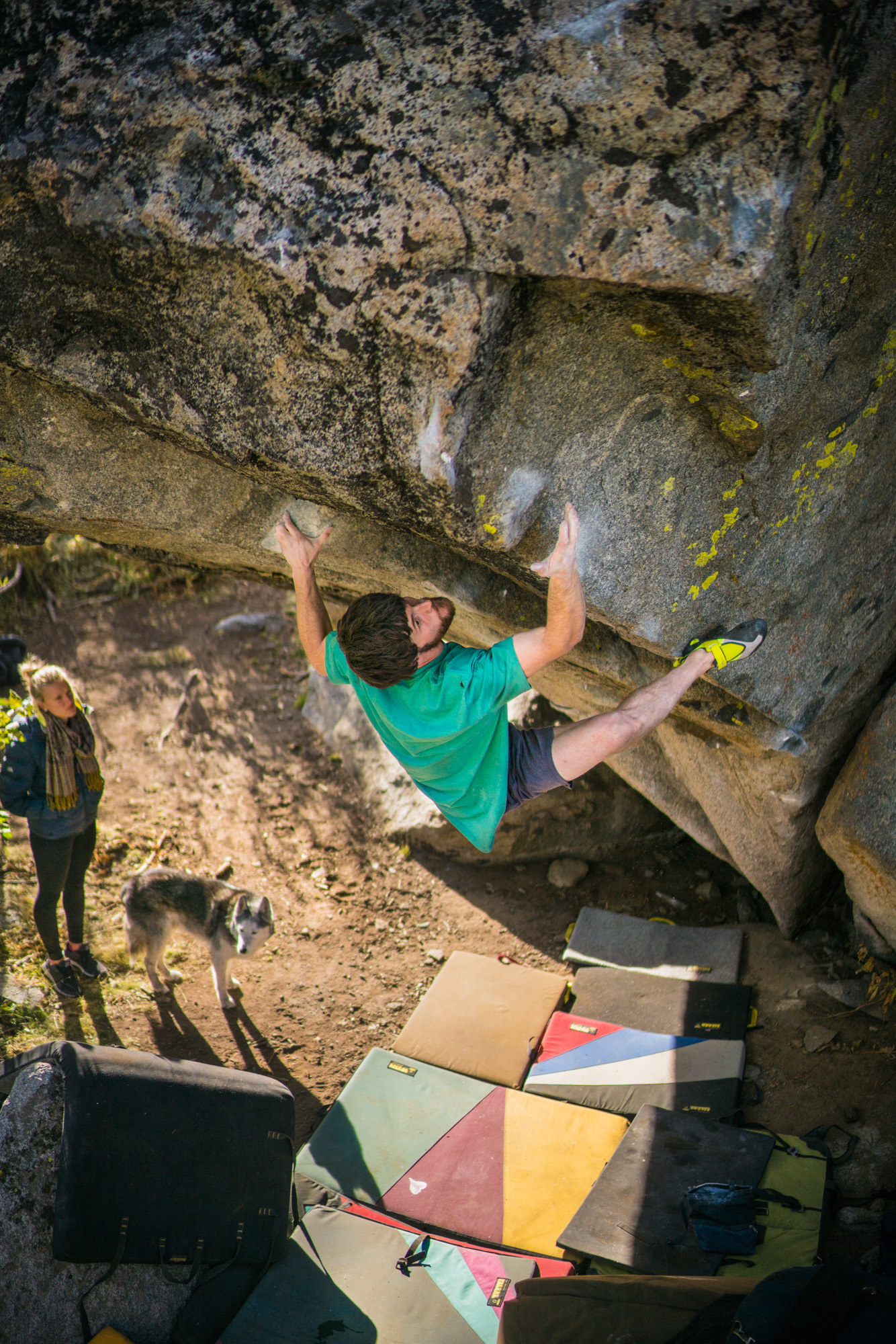 "Tahoe and ""The Outer Limits""   Jimmy Webb sends some of the hardest boulder problems in the Tahoe Basin in a hurry, and battles for seven days to establish ""The Outer Limits"", Northern California's first V15."