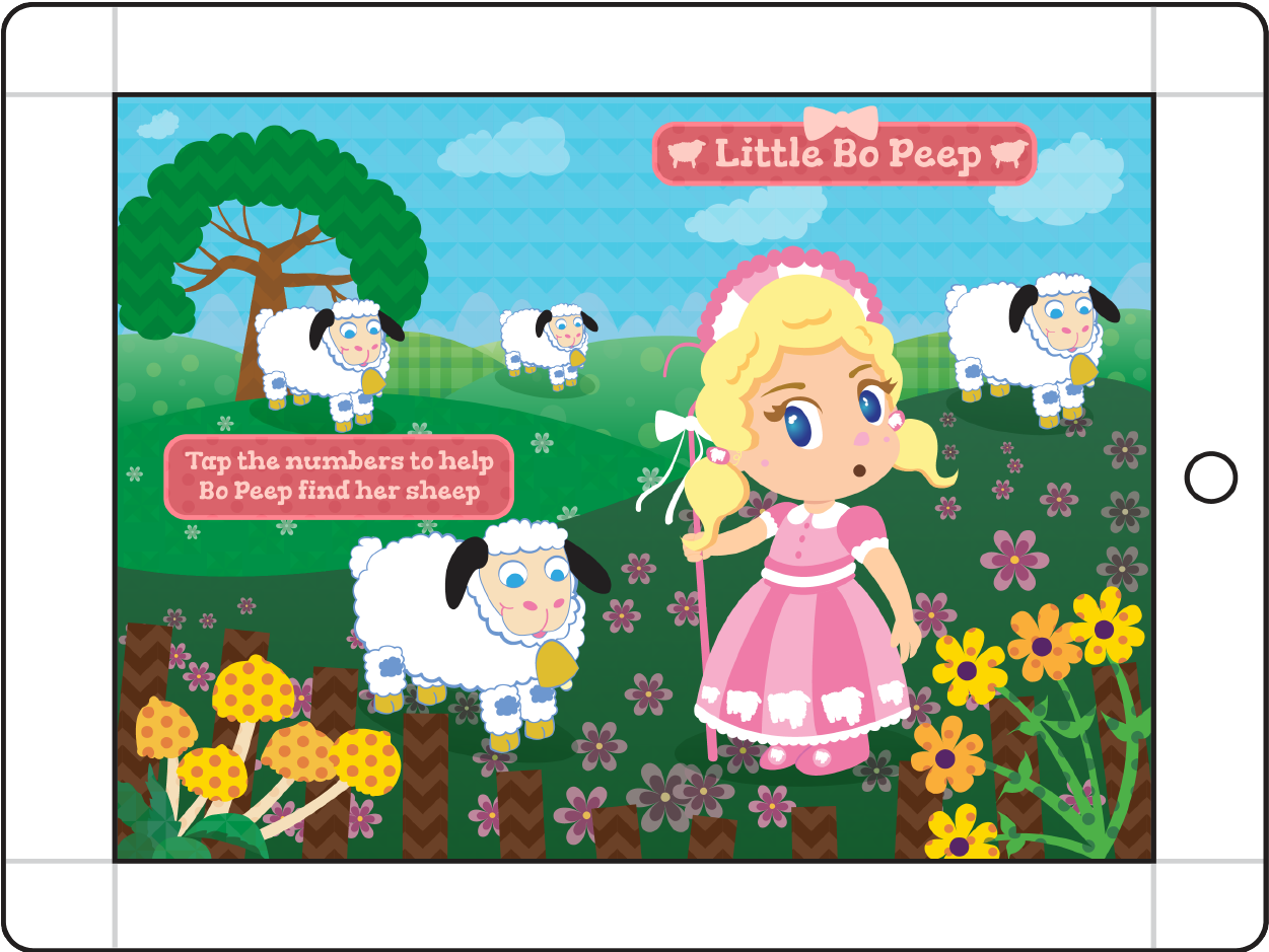 Mother Goose's Girls - Little Bo Peep After