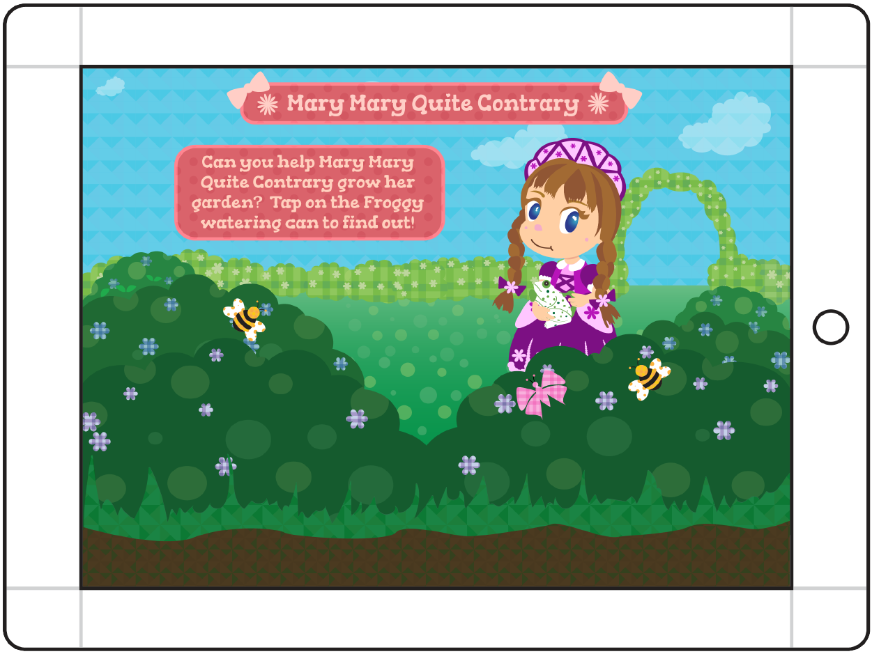 Mother Goose's Girls - Mary Mary Quite Contrary Main Screen