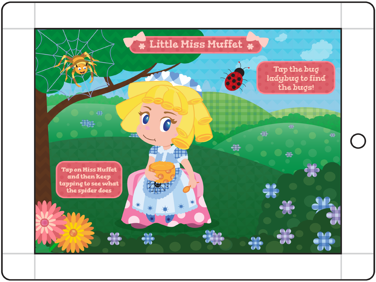 Mother Goose's Girls - Little Miss Muffet Main Screen