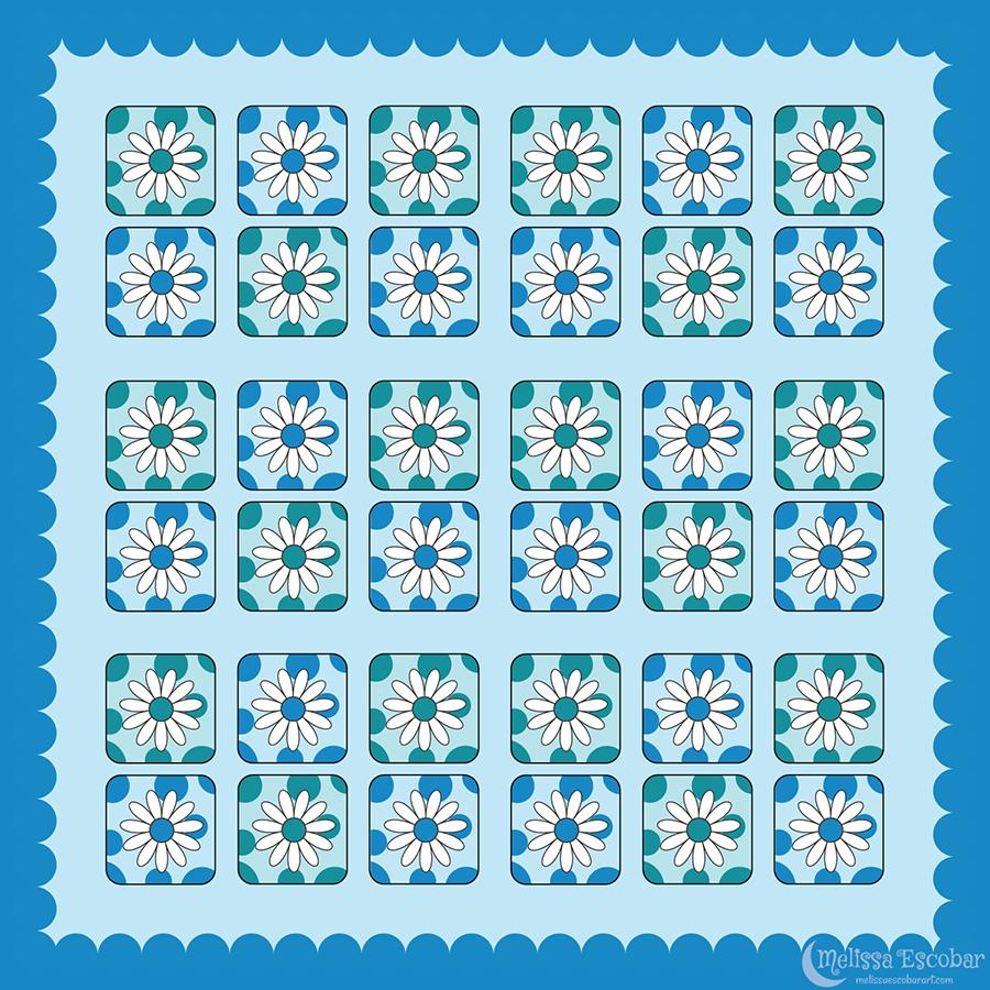 Daisy 2 Square Sticker Designs