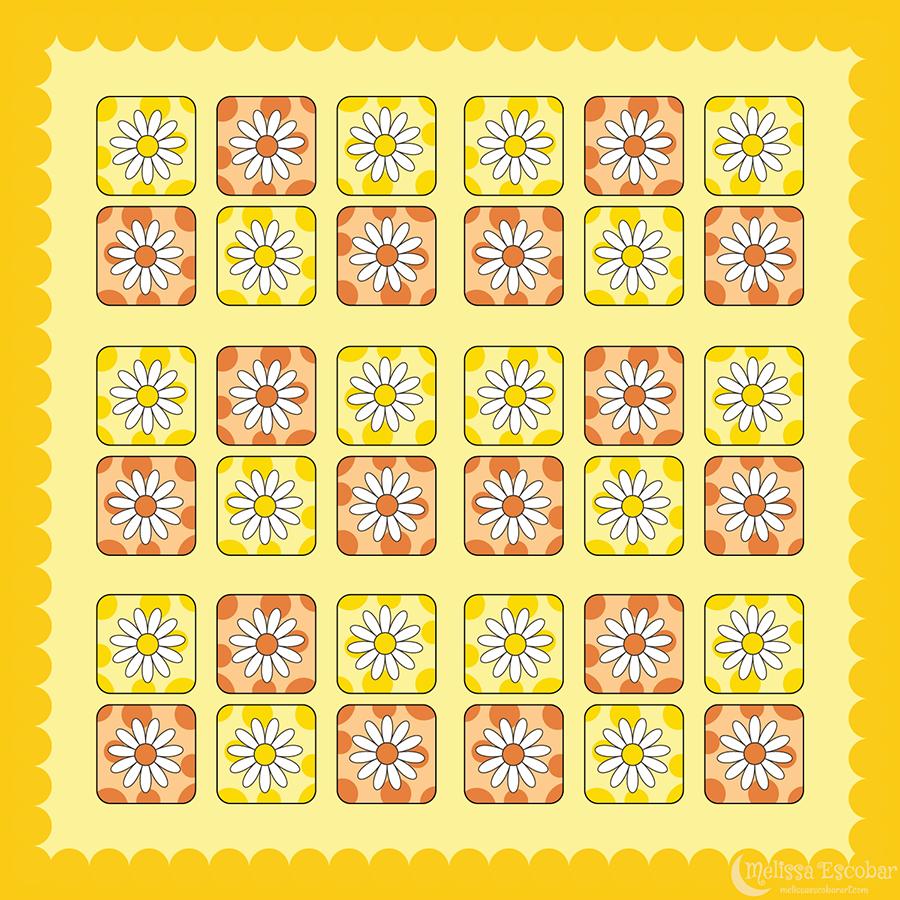 Daisy 1 Square Sticker Designs
