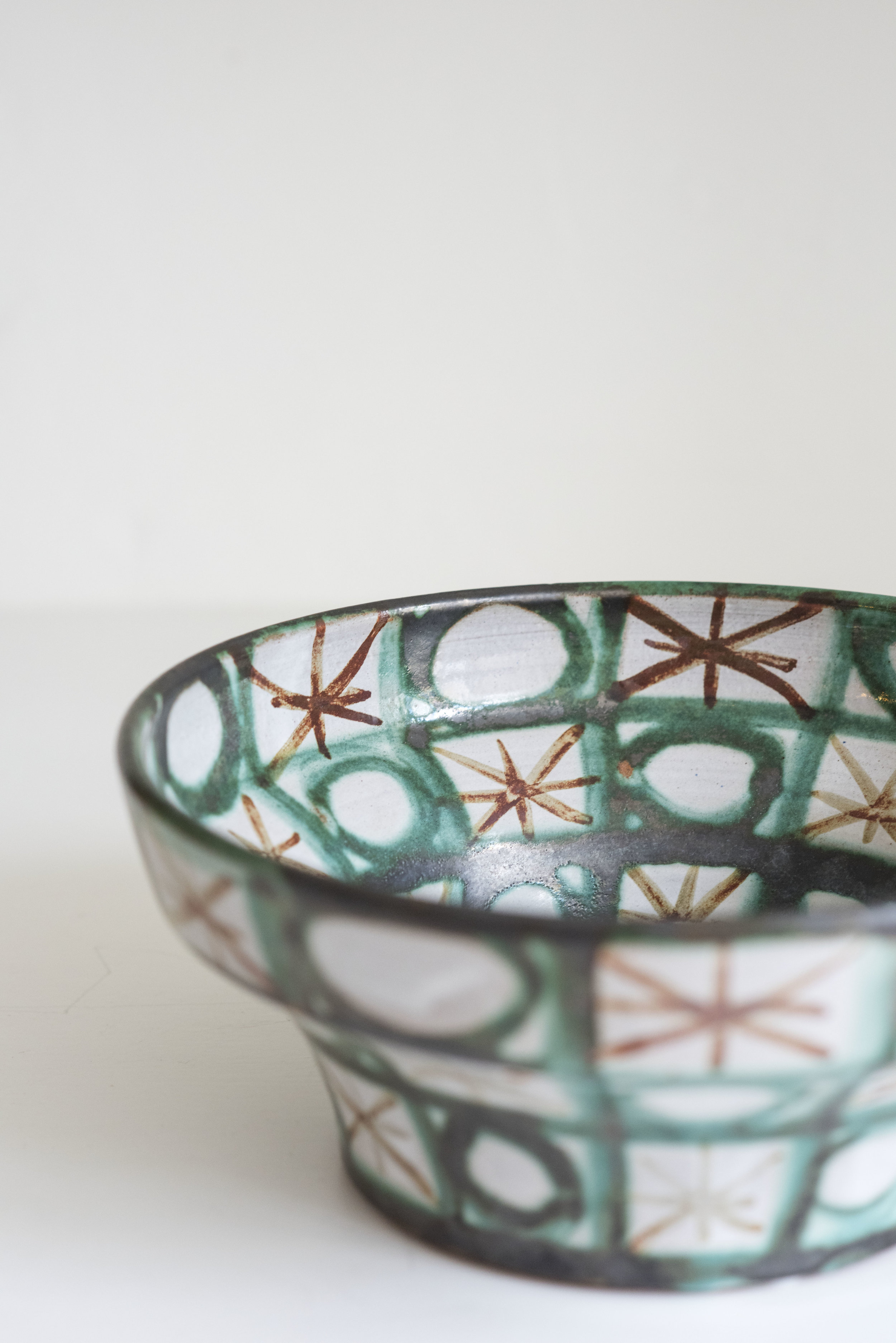 19th Century Hand Painted French Antique Glazed Bowl