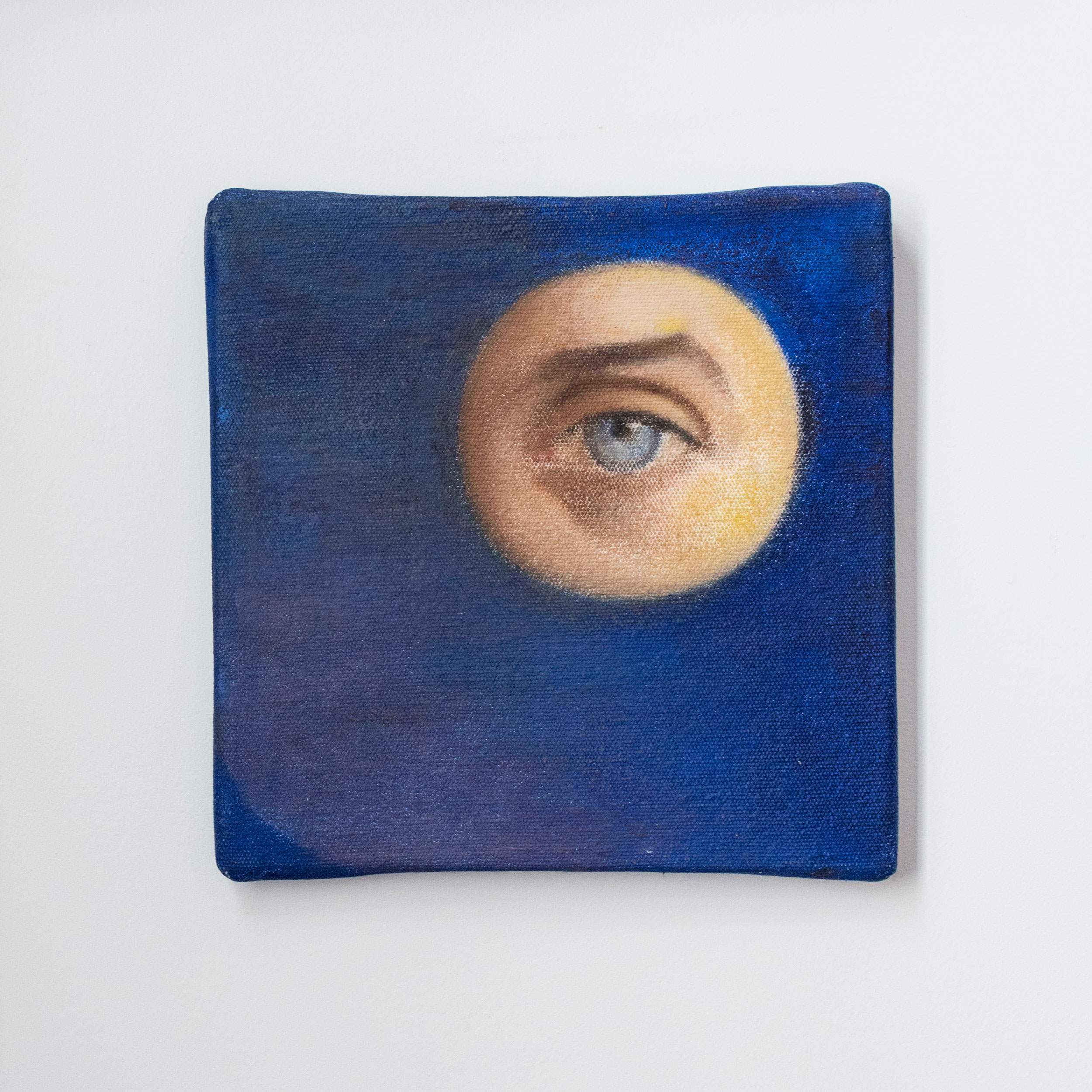 A portrait of Mark's right eye by Margaret Witherspoon