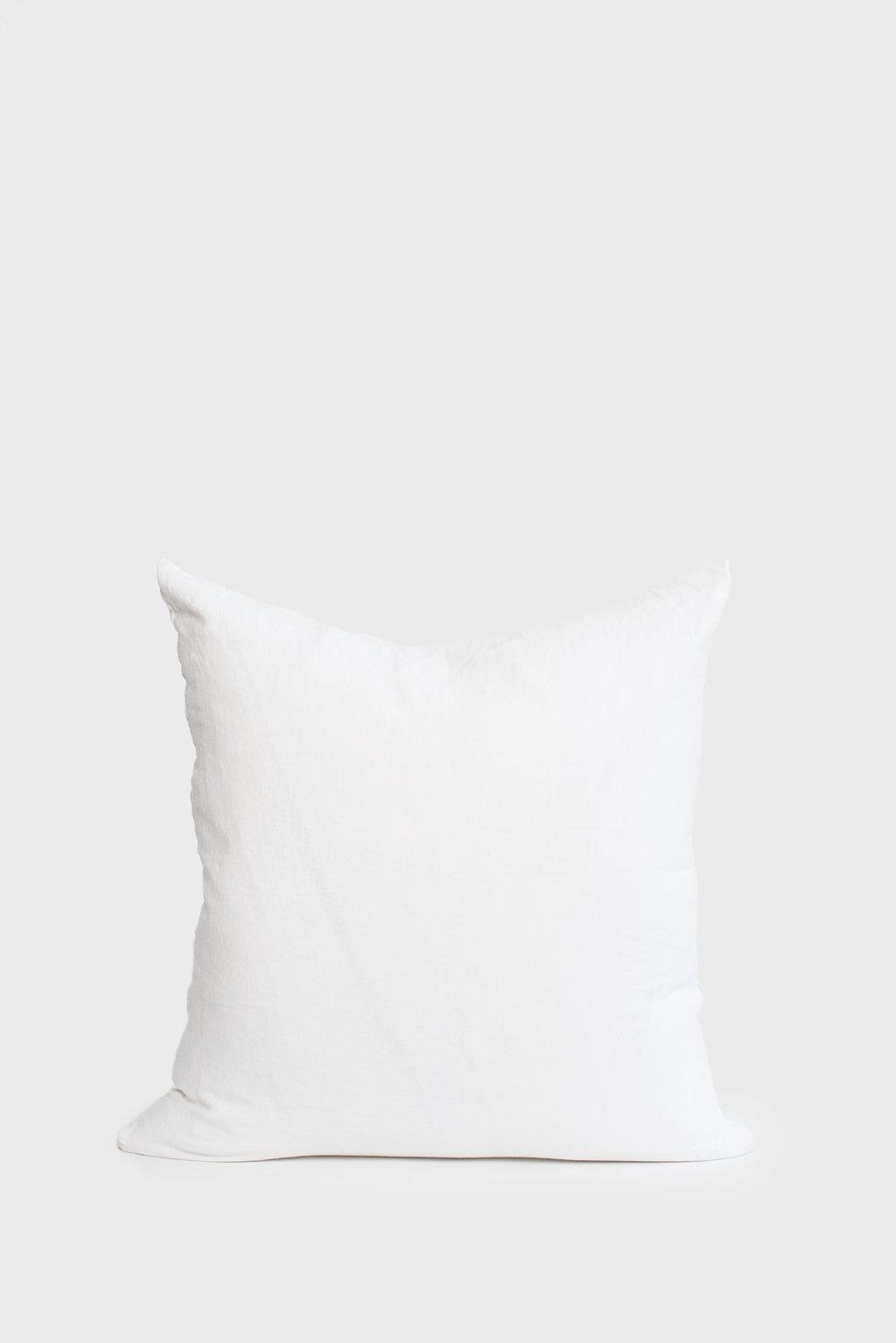 White Linen Lumbar Pillow Set Of 2 Sunday Shop