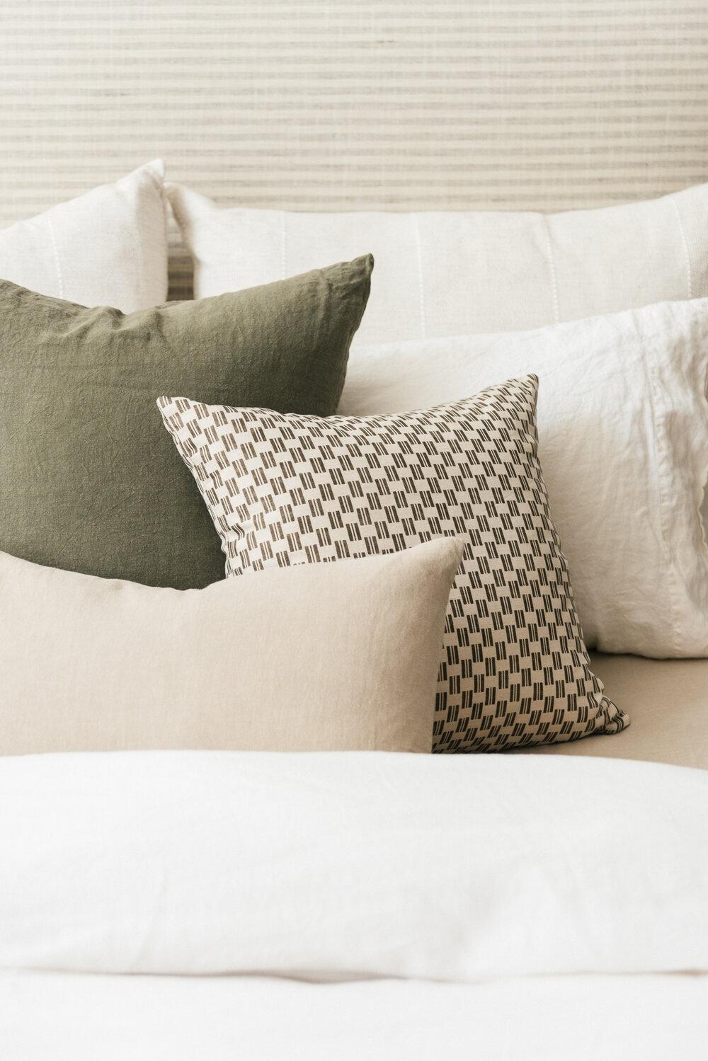 Flax Linen Lumbar Pillow Set Of 2 Sunday Shop