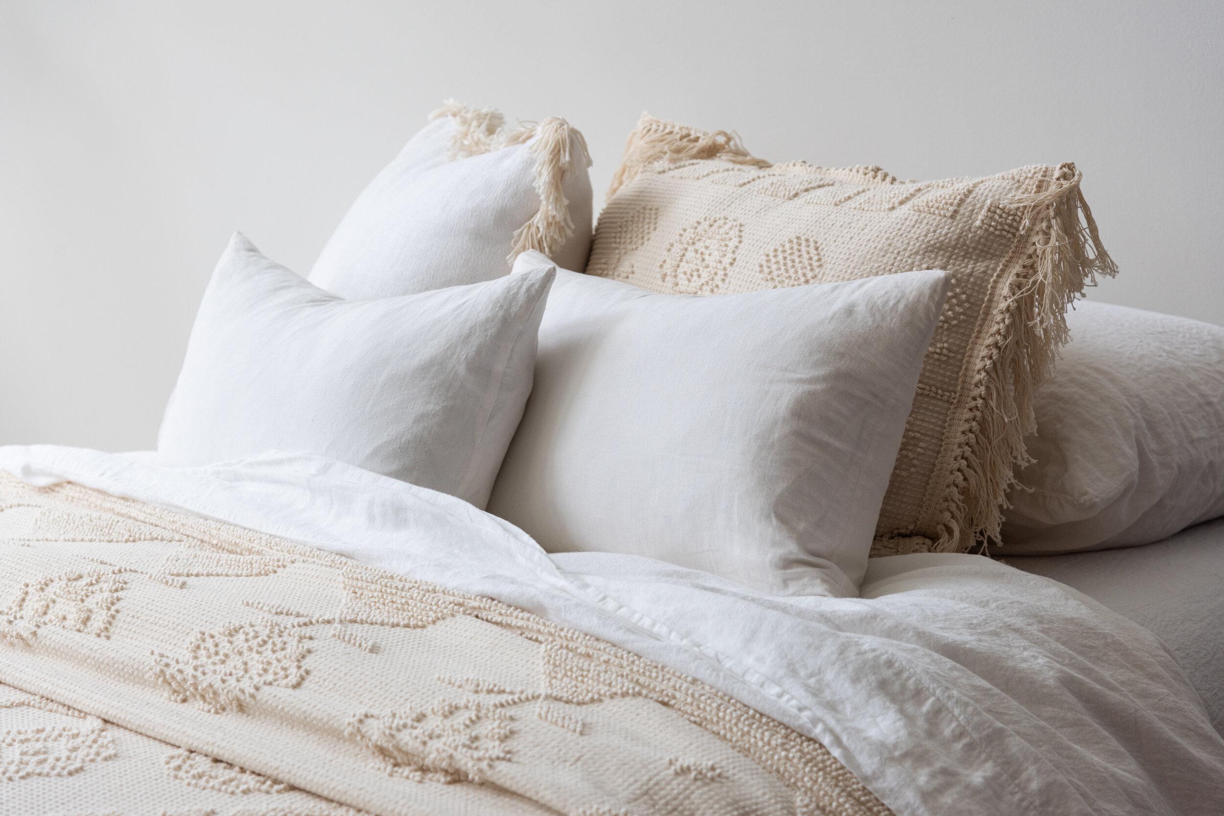 cotton chenille pillow shams antique sunday shop