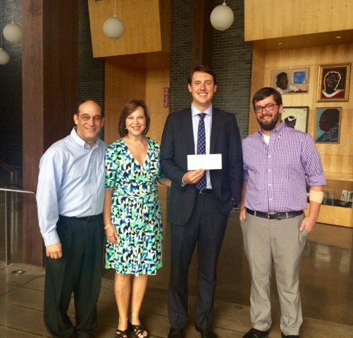 Pictured from left: Jonah Rabinowitz, Lynn Adelman, Colby Robbins (Merrill Lynch), and Jordan Morrison