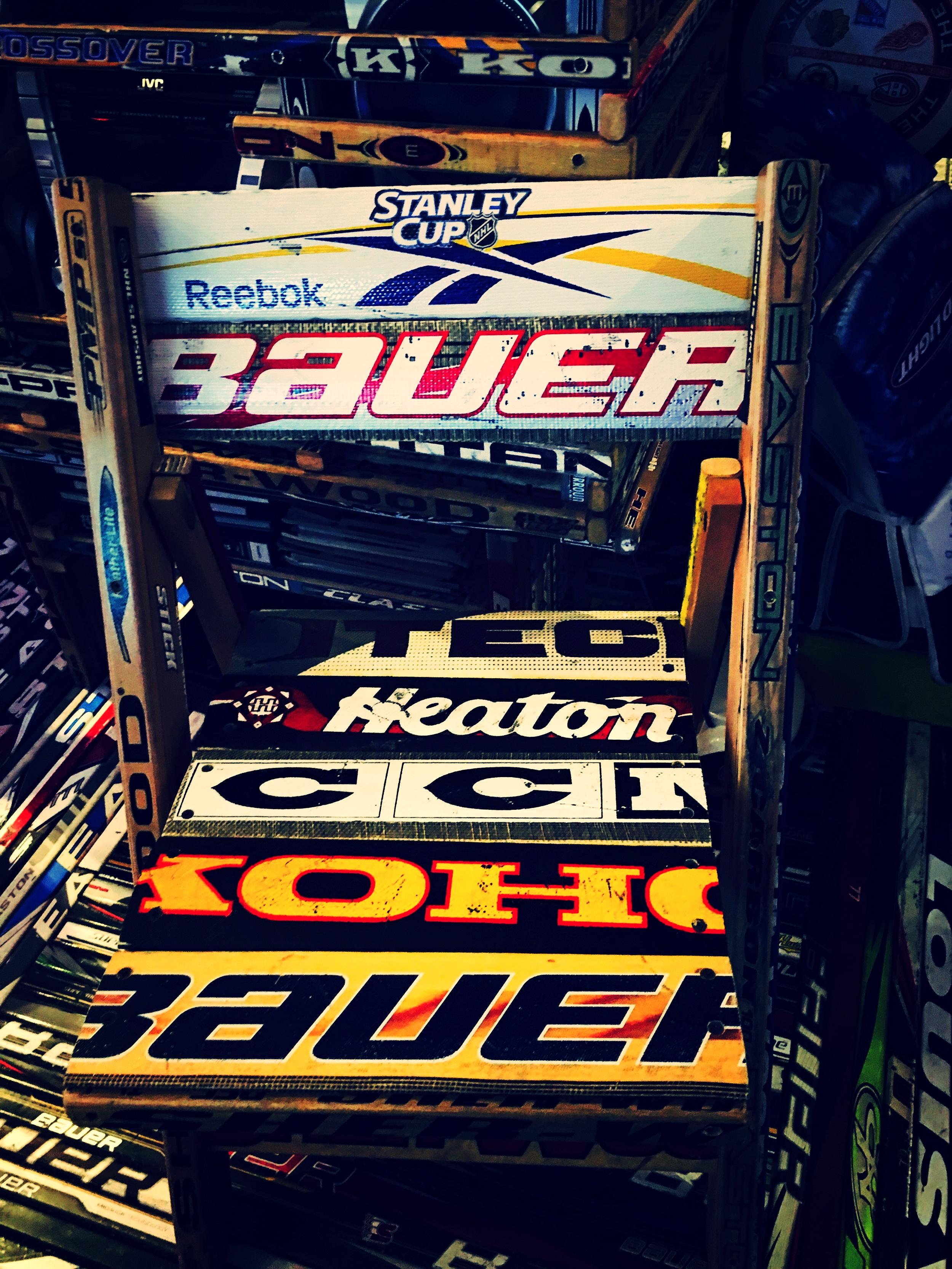 Goalie Stick Chair