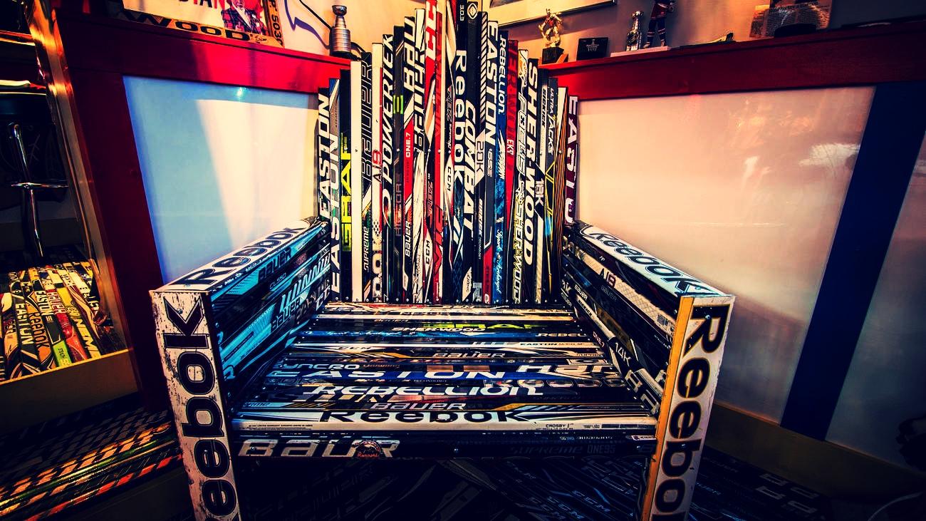 Giant Hockey Stick Chair