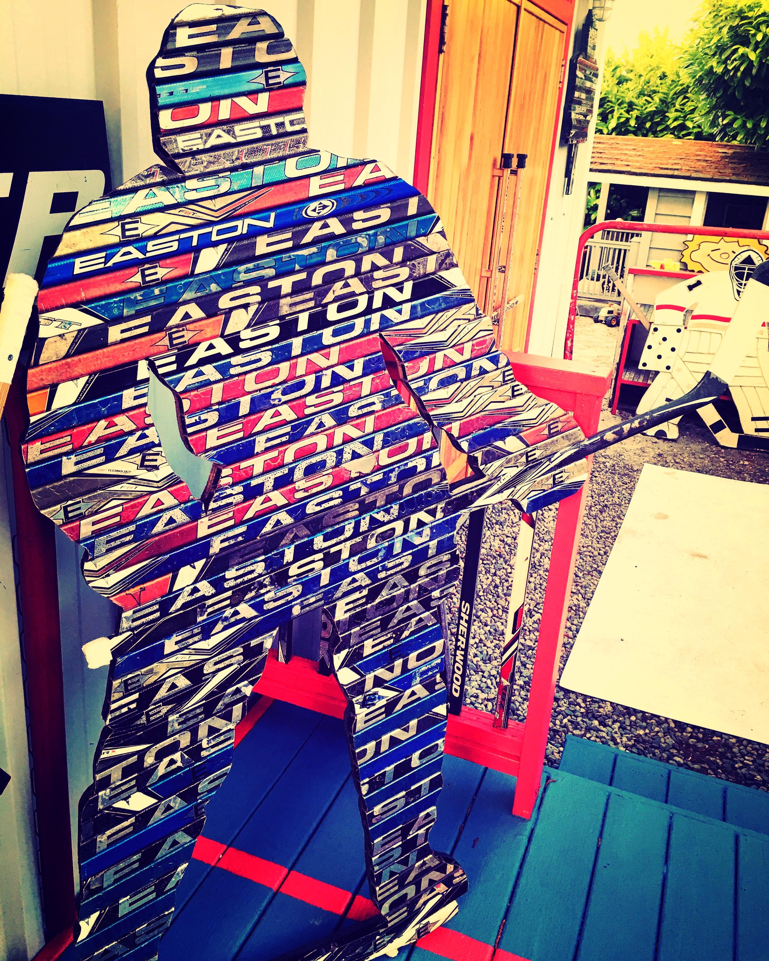 Clint Easton - Hockey Player Made from Hockey Sticks