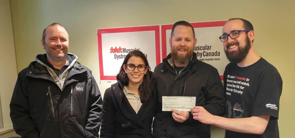Donating the over $14,000 raised at the 2016 Oak Bay Xmas Cup to Muscular Dystrophy Canada BC/Yukon Region
