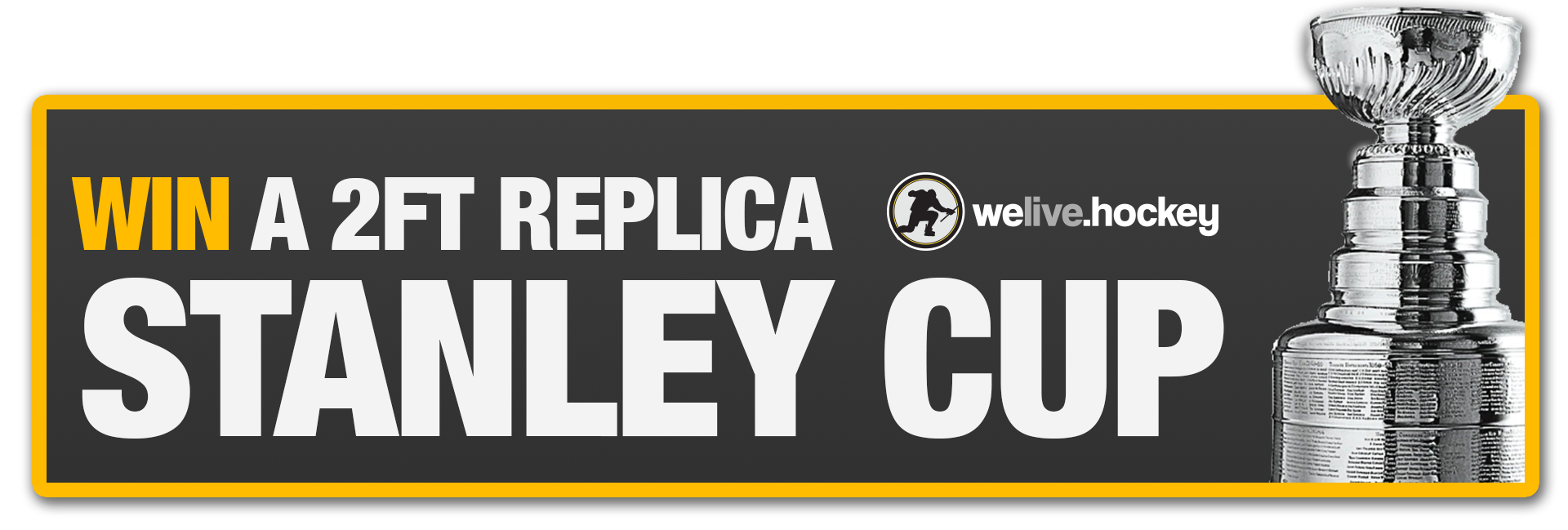 Enter now to win the World's Largest Replica Stanley Cup. $350+ Value. Ends Soon!