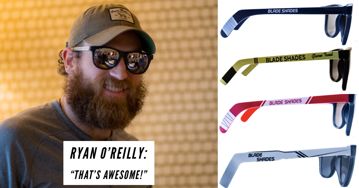 Hockey stick sunglasses for the hockey world. Click here to shop the shades.