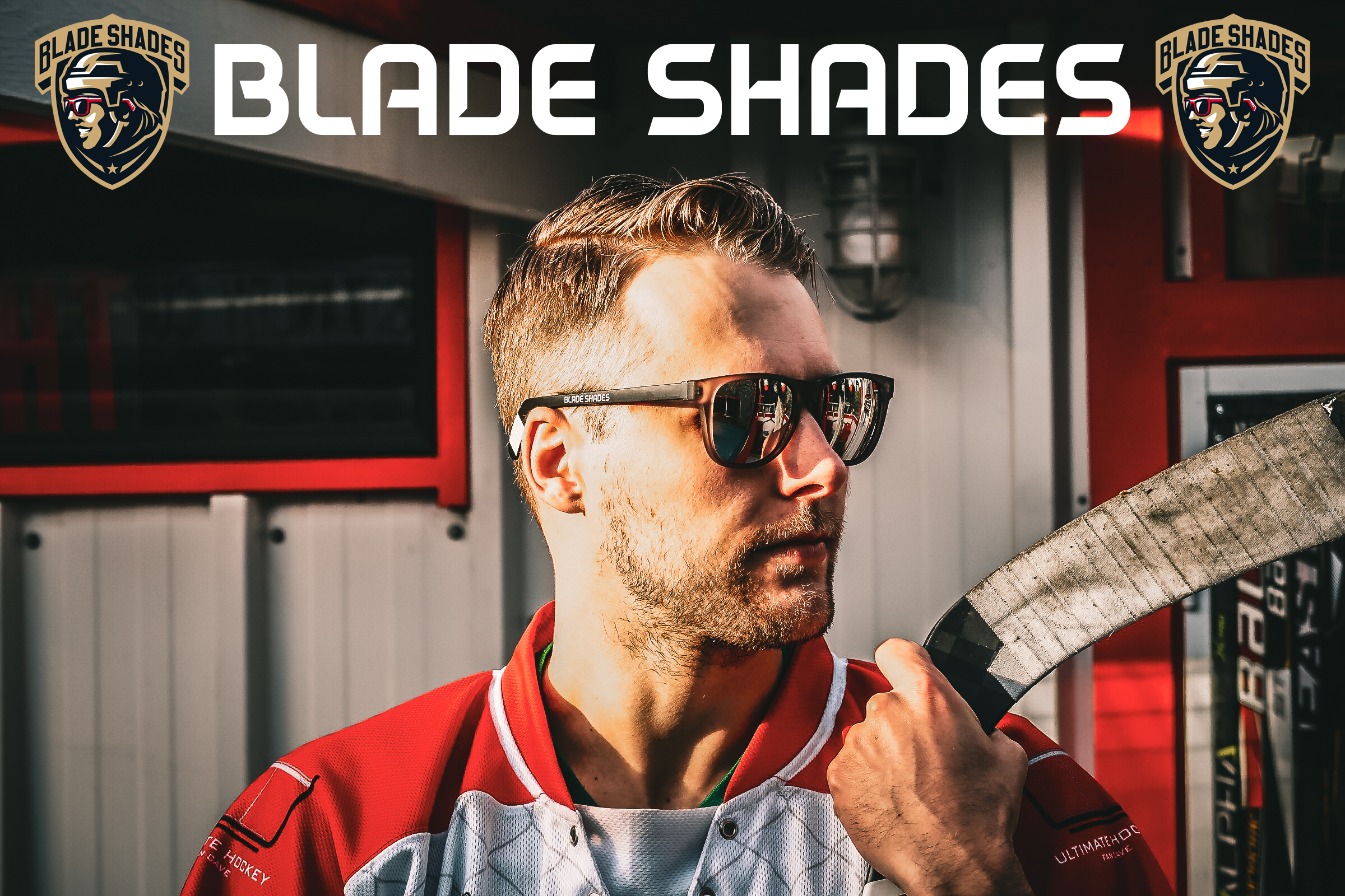 Hockey stick sunglasses for the hockey world. Click here to Put the Game on.