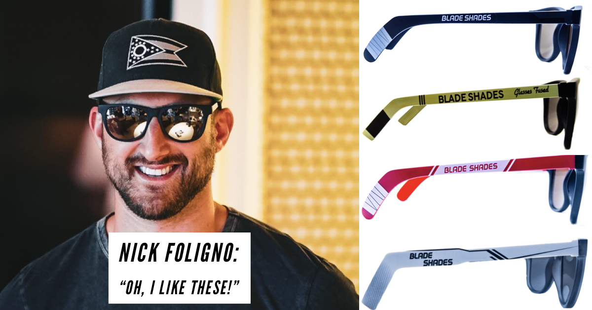 Hockey stick sunglasses for hockey people. Click here shop the shades!