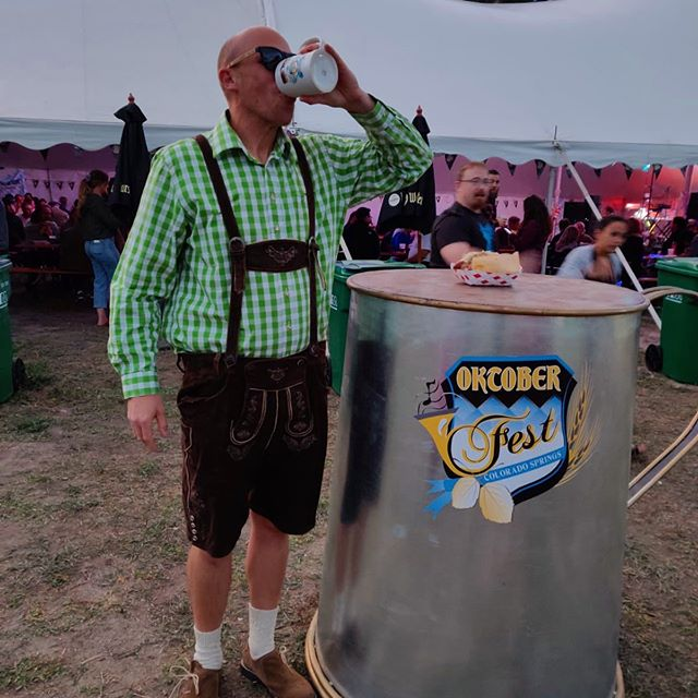 Of course you'd find a Goon at Oktoberfest...🏒😎🍺 — #hockeyislife #nhl #isitoctoberyet #beerlover #beerleaguehockey #hockeyboys