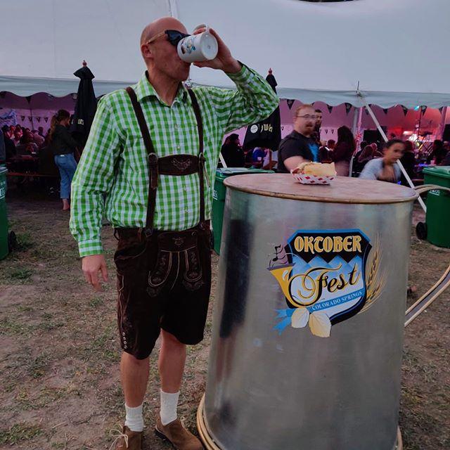 Of course you'd find a Goon at Oktoberfest...🏒😎🍺 — #hockeyislife #nhl #isitoctoberyet #beerlover #beerleaguehockey #hockeyboys
