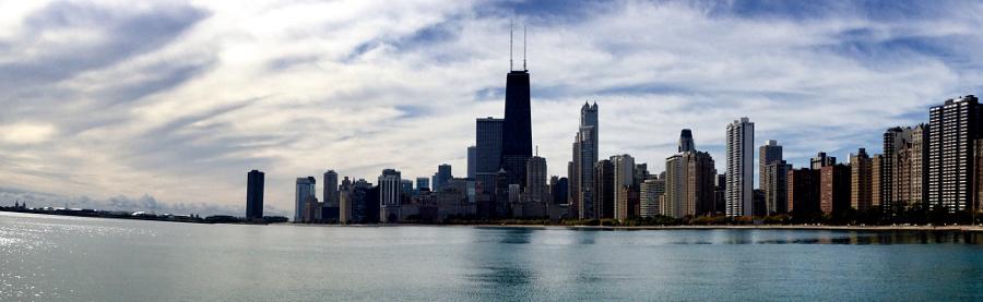 Lake Michigan skyline, Chicago, Illinois