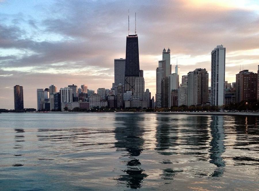Lake Michigan sunset, Chicago, Illinois