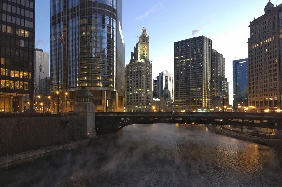 Chicago River, Chicago, Illinois.