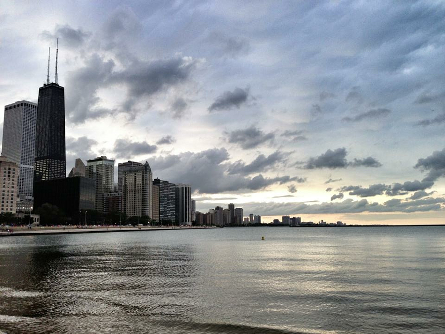 Lake Michigan, Chicago, Illinois.