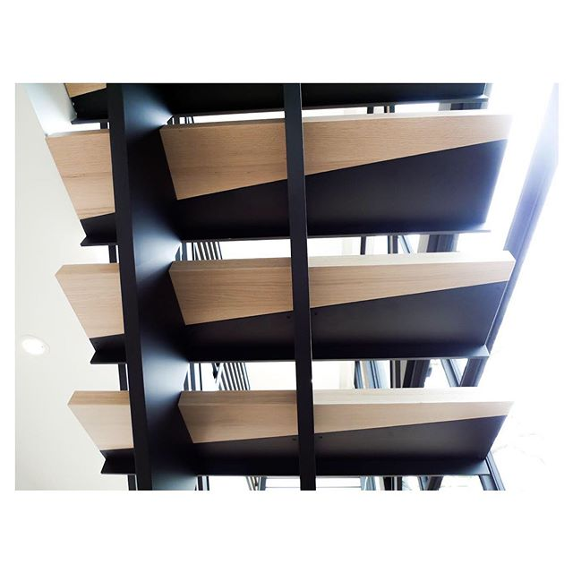 Eye catching angles in the feature staircase at our Garden House Project... the details make the project!