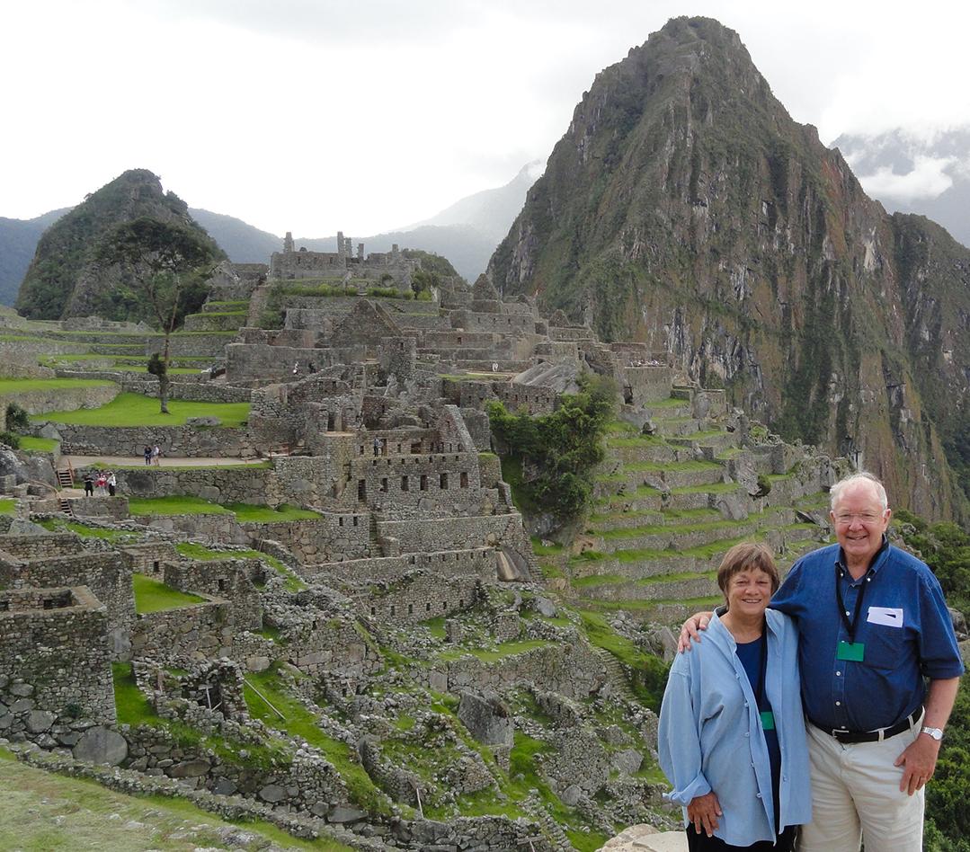 The Hammers visiting Machu Picchu in Peru