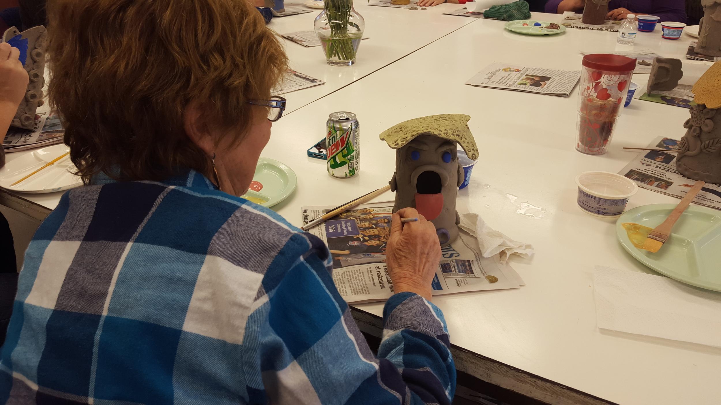 Whimsical Clay Birdhouse Class