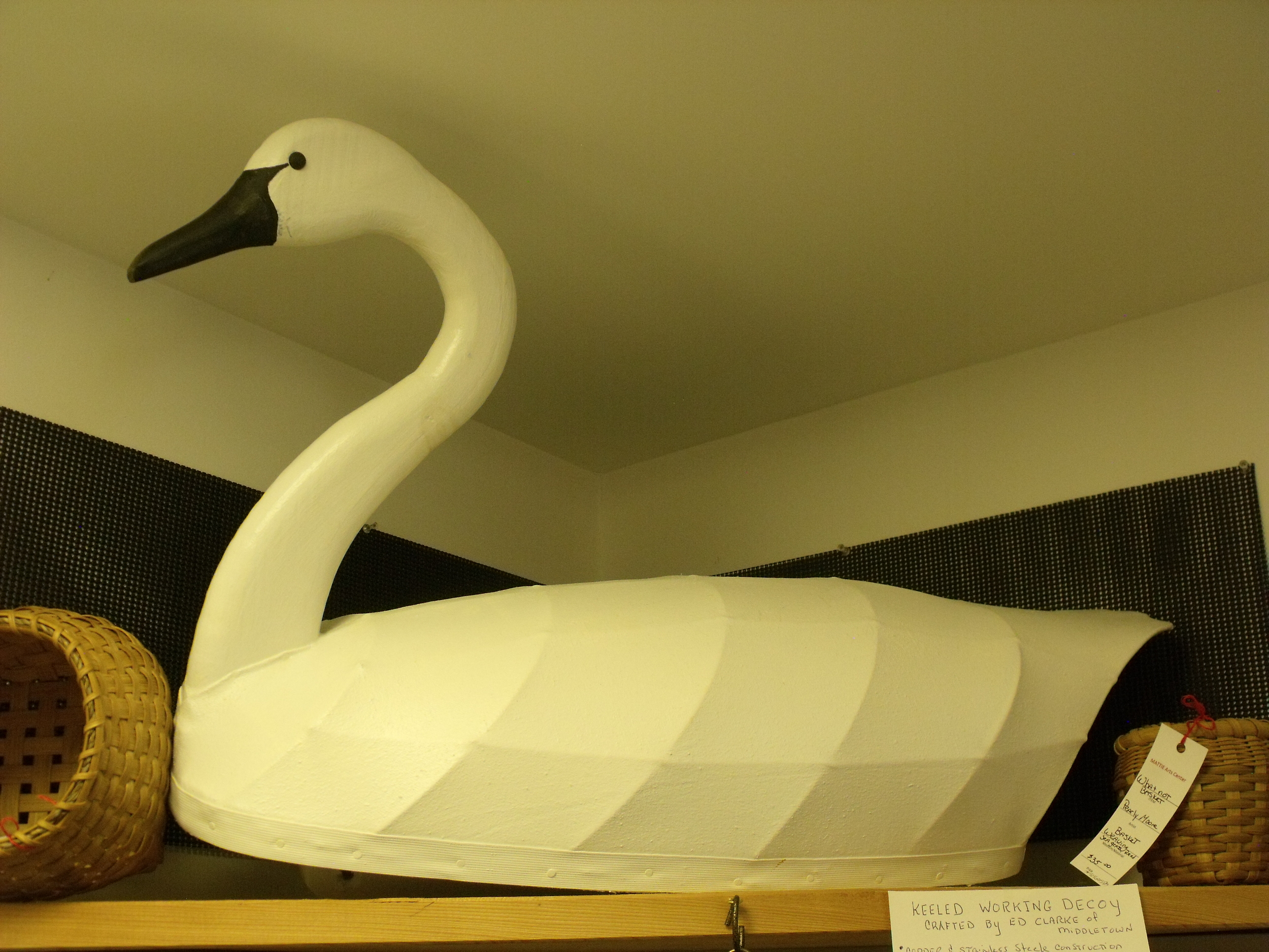 Tundra Swan Stretched Canvas back Decoy by Ed Clarke  $175