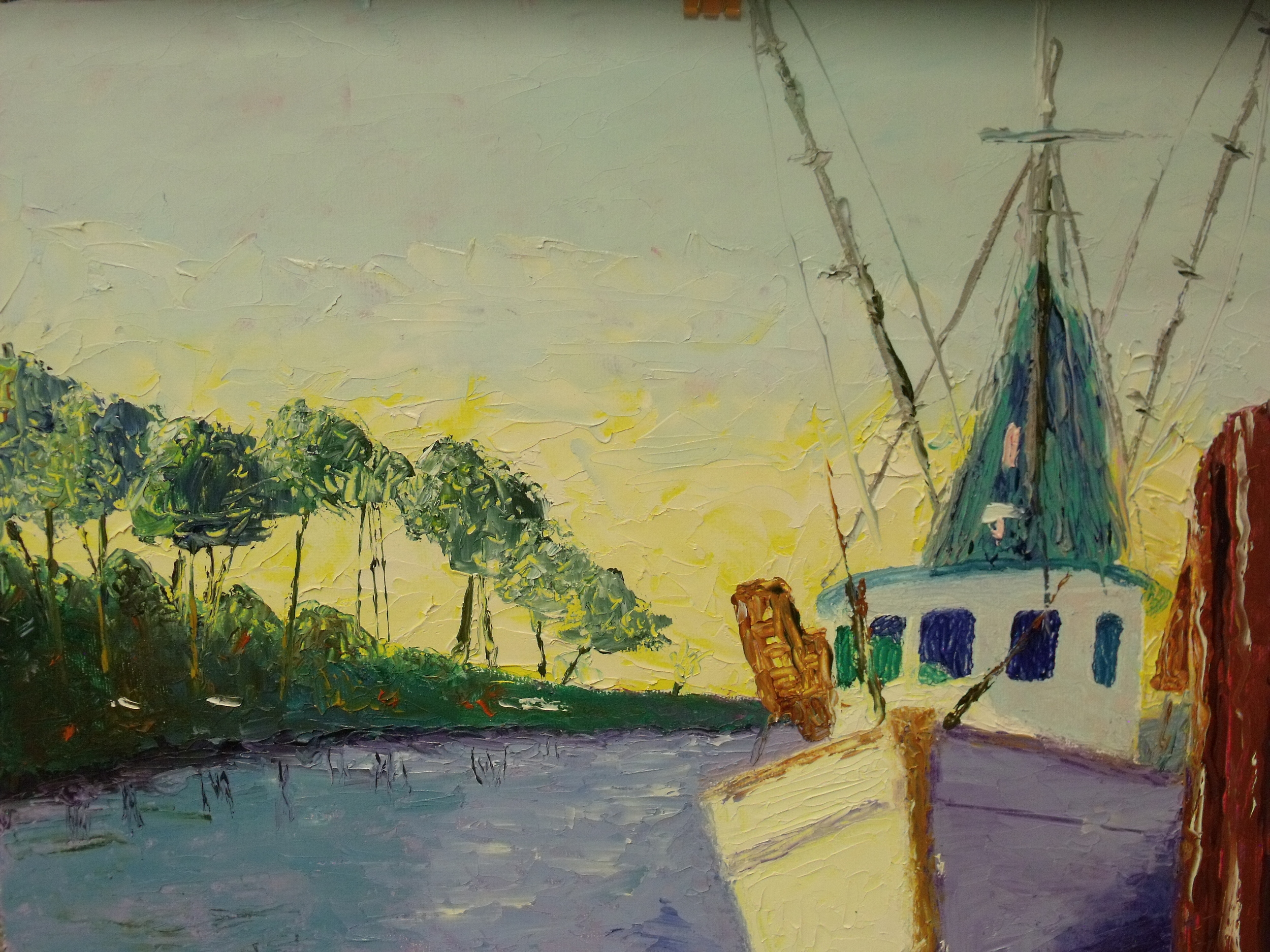 Trawler at Dock by Jane Gibbs  $120