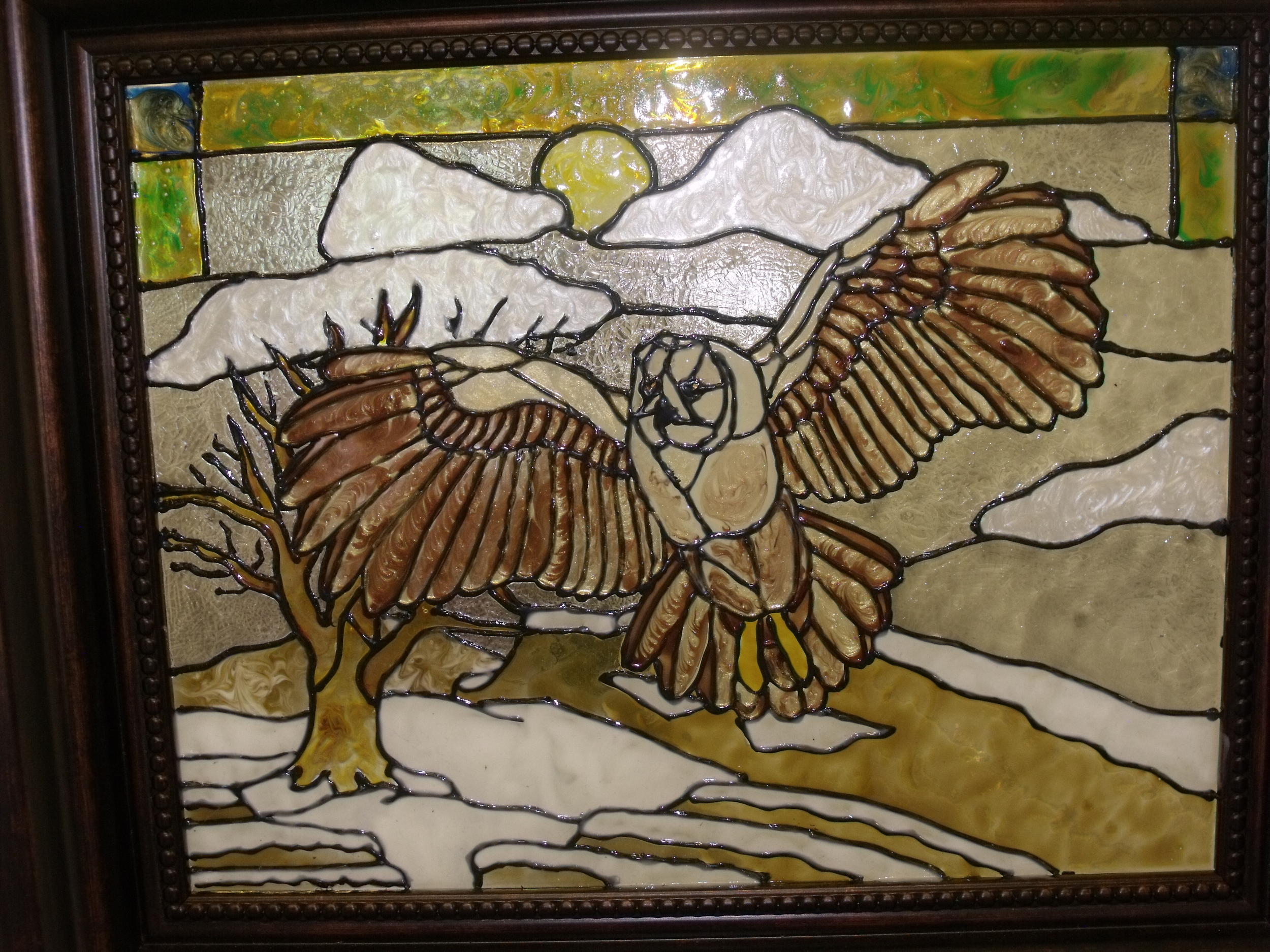 Flying Owl by Laura Hayes Rodrigues  $40